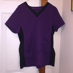 Medium Scrubstar scrub top purple